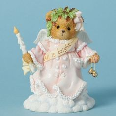 Christmas Figurines, Christmas Candles, Christmas Decorations, Clay Bear, Christmas Village Sets, Angel Bear, Monkey Doll, Snow Angels, Teddy Bears
