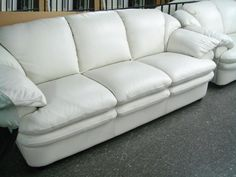 Furniture Simple Shocking White Leather Sofa Color Design Ideas Determining the Stunning Sofa for Sale With the Original Leather Material