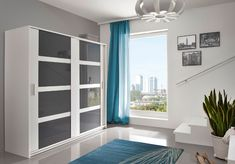 Large Wardrobes, Preston, Sliding Doors, Black And Grey, New Homes, Windows, Modern, House, Trendy Tree