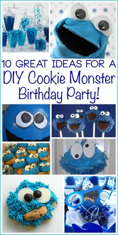 Um...I'd love a Cookie Monster birthday party...just puttin' that out there (I shall show Derek this pin)