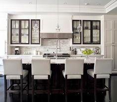 Transitional Kitchen Design with White Shaker Style Cabinets, Jennifer Worts Design