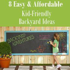 8 easy & affordable kid-friendly backyard ideas | kid friendly ... - Kid Friendly Patio Ideas