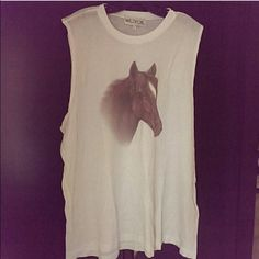 Wildfox Horse Tank Top Runs big and its a long tank loose and flows. Great condition like new Wildfox Tops Tank Tops