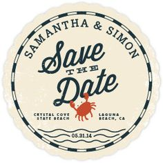 save the date idea - but on beer coasters!! yes, totally, i think it might be done