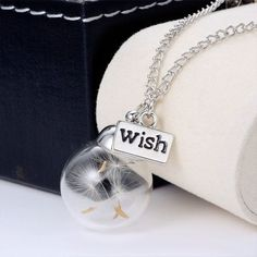Glass Bead Orb Silver Plated Necklace