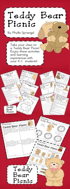 Take your class on a Teddy Bear Picnic!   Enjoy these activities  and learning experiences with your K-1  students!