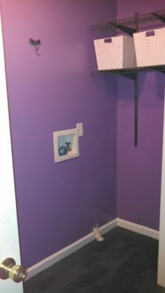 Why have a regular laundry room when you can have a purple one??