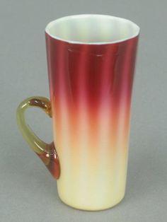 New England Plated Amberina Handled Lemonade - 4 3/4 inch HOA