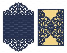 Wedding invitation Card 5x7 Template iron door by EasyCutPrintPD