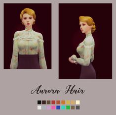 Aurora HairHappy New Year!I wish you all good health and happiness every day😊😊Let's cheer together in the New Year. Sims 4 Cc Packs, Sims 4 Mm Cc, Sims 1, The Sims, Sims 4 Hair Male, Sims Hair, Sims 4 Mods, Sims 4 Decades Challenge, Aurora Hair