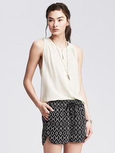 Racerback Sleeveless Blouse