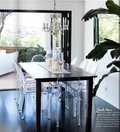 Louis Chairs, chandelier, Simone Duckworth's home, Adore Magazine
