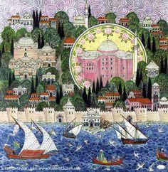 Gül Camii Minyatürü - Nusret Çolpan - Uygulamalı Türk - İslâm Sanatları Kütüphanesi - Gül Sergisi Albümünden