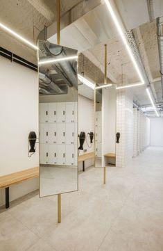DAS-Studio Designed an Exercise Center Located in Paris,France - Home Revolution Commercial Design, Commercial Interiors, Dance Studio Design, Gym Interior, Yoga Studio Interior, Gym Lockers, Pilates Studio, Studio Workouts, Pilates Reformer