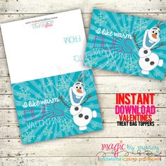 Disney Inspired Frozen Valentines INSTANT DOWNLOAD DIY Valentines Day Printable I by MagicbyMarcy, $3.00