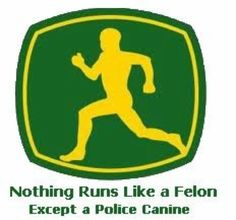 Nothing Runs Like a Felon Except a Police Canine Cops Humor, Police Humor, Funny Police, Drunk Humor, Ecards Humor, Police Dogs, Nurse Humor, Probation Officer, Police Officer