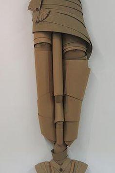 Cardboard sculpture LADYS PORTRAITS by LULA elian kaczka