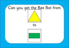 A shape mat for Bee Bots along with 30 sized challenge cards. I've included mats that can be made on both and pages - there is a overlap on both edges to help with aligning. All comments welcome! Teaching Technology, Teaching Math, Teaching Resources, Digital Technology, Maths Working Wall, Year 1 Maths, Stem Classes, Challenge Cards, Computational Thinking