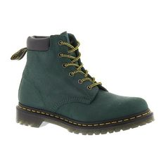 Dr Martens 939 6-Eye Hiker Boot ($125) ❤ liked on Polyvore featuring shoes, boots, teal, dr martens shoes, dr martens boots, rubber sole boots, teal boots and dr. martens