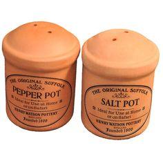 Terracotta Cruet Salt & Pepper Set.