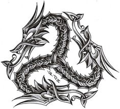 triskelion dragon by roblfc1892.deviantart.com on @DeviantArt