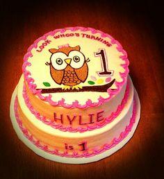 1St Birthday Girl Owl Cake
