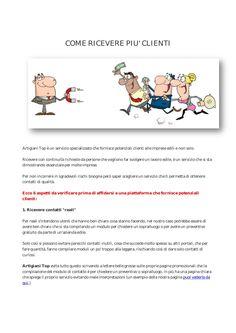come-ricevere-piu-clienti by Artigiani Top via Slideshare