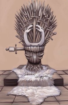 Game of Throne: Wiping is Coming- Re-Flushed Toilet Art, Household, Lion Sculpture, Chandelier, Ceiling Lights, Statue, Game, Fun, Home Decor