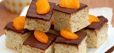 Chocolate orange squares – Recipes – Slimming World Slimming World Sweets, Slimming World Puddings, Slimming World Diet, Healthy Dessert Recipes, Healthy Treats, Healthy Food, Healthy Eating, Low Fat Cake, Slimmimg World