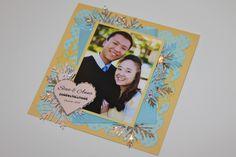Happy Engagement Card! Sizzix + Spellbinder Dies + WPlus9 Snowflakes.