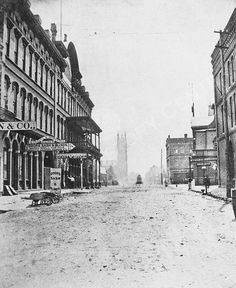 1876 view of Loyd Street (now Central Avenue) in Atlanta.
