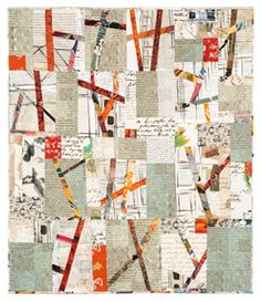 From board: Quilt: Inspired by Nancy Crow: A quilt from an upcoming exhibit at The Art Quilt Gallery in New York. (This quilt is by Sylvia Einstein. Patchwork Quilting, Scrappy Quilts, Mini Quilts, Modern Quilting, Strip Quilts, Quilt Blocks, Sculpture Textile, Textile Art, Quilting Projects
