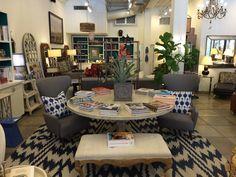 Chevron #rug and #arm #chair vignette at #Chicago #Mecox #interiordesign #MecoxGardens #furniture #shopping #home #decor #design #room #designidea #vintage #antiques #garden