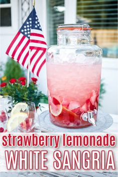 Entertain a group with this refreshing Strawberry Sangria/White Sangria recipe. Fresh berries and lemonade come together with a chilled white wine for a delicious summer sangria. Summertime Drinks, Summer Drinks, Strawberry Lemonade Sangria, Alcohol Drink Recipes, Fireball Recipes, Alcoholic Punch Recipes, Fun Drinks Alcohol, Liquor Drinks, Margarita Recipes