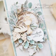 First Communion Cards, Explosion Box, Graphic 45, Junk Journal, Handmade Cards, Babys, Cardmaking, Projects To Try, Scrapbooking