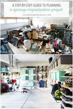 A Step by Step Guide to Planning a Garage Organization Project, Home Organization organizing, Garage Renovation, Garage Remodel, Garage Makeover, Kitchen Remodel, Garage Organisation, Home Organization Hacks, Organized Garage, Organizing A Garage, How To Organize Garage