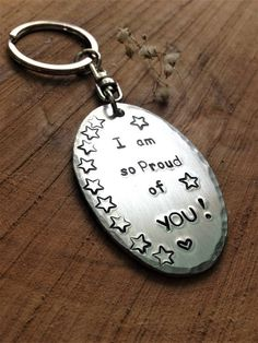 I am so proud of you keychain  graduation gift  new driver