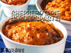 A South African favourite comfort food for both young and old. Shepherd's Pie or cottage pie (Herderspastei), is a meat pie with a crust normally made from mashed potato but in this case sweet potato.