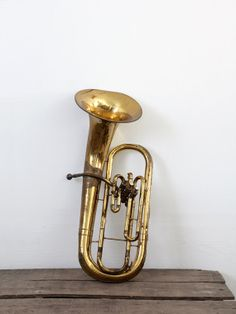 Vintage Baritone Horn / Brass Insturment by 86home on Etsy, $250.00