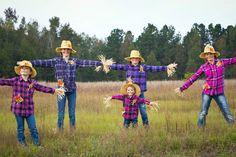 Kinard Sisters - Dressed as Scarecrows!
