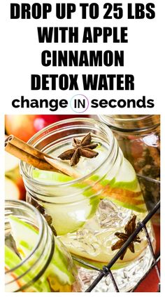 Drop Up To 25 Lbs With Apple Cinnamon Detox Water! This is one of best detox whi… Drop Up To 25 Lbs With Apple Cinnamon Detox Water! This is one of best detox which is healthy that you can do! Breakfast And Brunch, Water Recipes, Detox Recipes, Detox Drinks, Healthy Drinks, Healthy Water, Detox Juices, Healthy Detox, Detox Kur