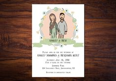 Bohemian Wedding Invitation Featuring Custom by WrittenInDetail, $145.00