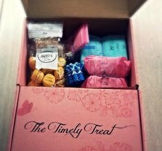 Tampons, pads and delicious treats! Everything you need for that 'time of the month! Daddy Daughter, Gift Baskets, Yummy Treats, Toy Chest, Kids, Boxes, Gift Ideas, Children, Boys