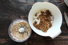 Smuldrepai med epler - krem.no Oatmeal, Food And Drink, Baking, Breakfast, The Oatmeal, Morning Coffee, Rolled Oats, Bakken, Backen