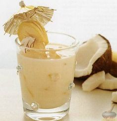 Homemade banana coconut cream liqueur