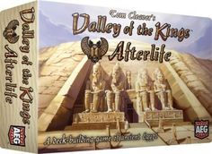 Valley of the Kings Afterlife – Alderac Entertainment Group Demo hosted by Game Creator Tom Cleaver  Take on the role of Egyptian nobles at the time of the pharaohs, preparing for their death and burial in the Valley of the Kings. Using an innovative deck-building mechanic with a crumbling pyramid, players fill their tombs with jewelry, chambers, weapons, tomb art and other treasures. The player who collects the most valuable artifacts in their tomb wins the game!