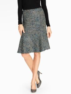 Talbots - Fancy Tweed Fluted Skirt | Skirts |