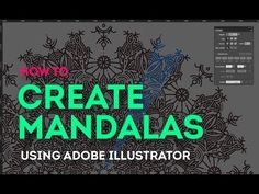 Tutorial: How to easily create mandalas on Adobe Illustrator - YouTube