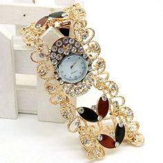 Butterfly Diamond Bracelet Fashion Watch for Lady: USD $10.15