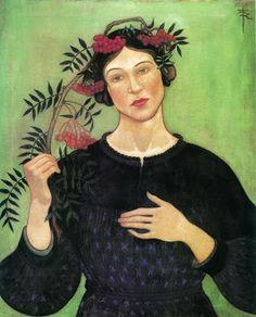 Portrait, by Cuno Amiet (Swiss, 1868-1961)